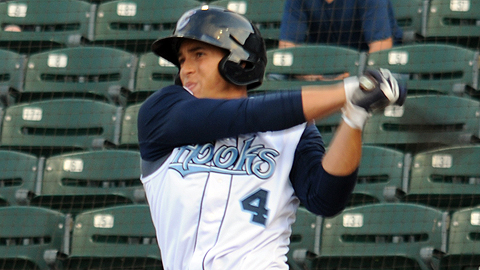 Outfielder George Springer leads the Minors with 18 home runs.