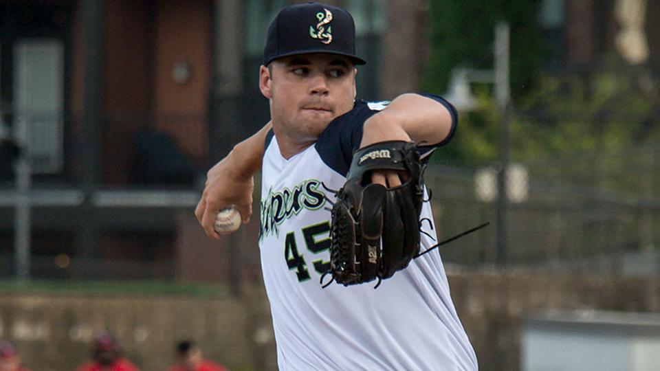 683816e7b Bryse Wilson has struck out 27 percent of the batters he s faced across  three levels this season. (Bernie Connelly Gwinnett Stripers)
