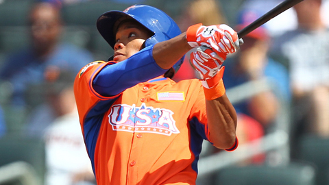Addison Russell represented the A's at the All-Star Futures Game in New York.