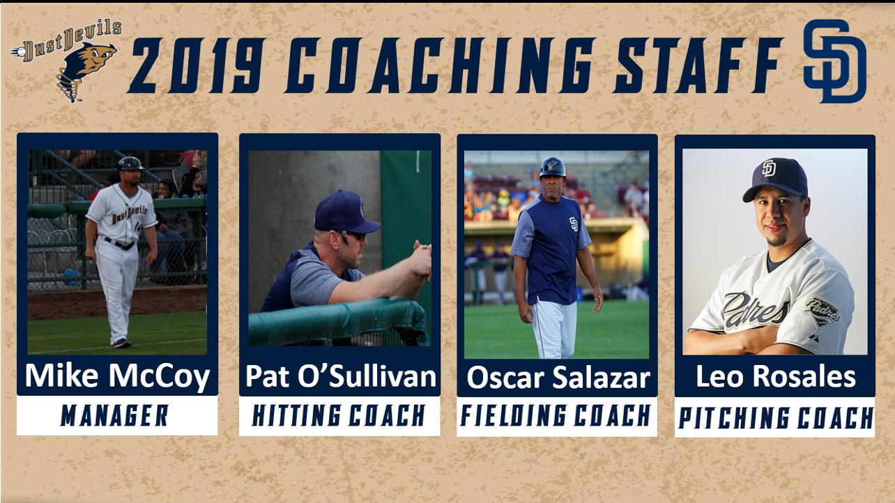 Dust Devils Announce 2019 Coaching Staff