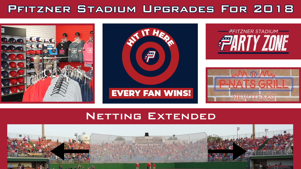 Potomac Nationals Announce Upgrades To Pfitzner Stadium For The 2018