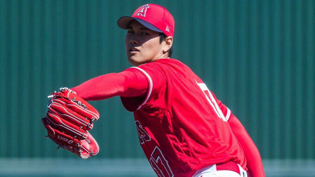 8c4aa9012f2 Angels  Ohtani makes Spring Training debut