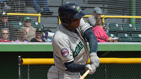 Byron Buxton has 15 RBIs in 17 Midwest League games.