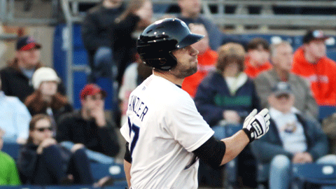 Russ Canzler homered and drove in two Monday