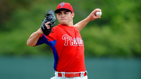 Fightin Phils starter Jesse Biddle throws in a spring training game against the Blue Jays.