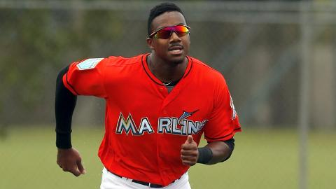 Lewis Brinson has a .949 OPS in 19 games with the Marlins at big league camp.