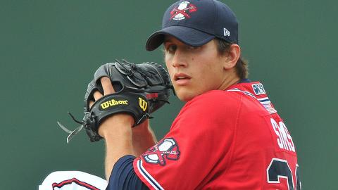 Lucas Sims is 6-4 with a 3.17 ERA in 22 games at Class A Rome this year.