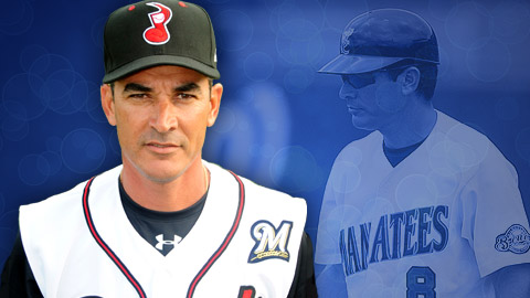 Coolbaugh honoree Mike Guerrero has managed at nearly every level in the Brewers organization.
