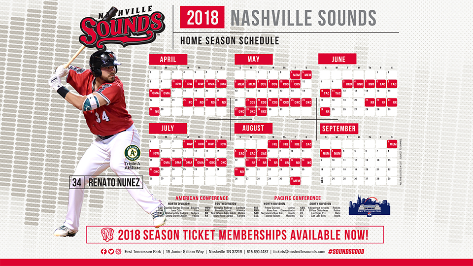 Sounds Announce 2018 Home Schedule Nashville Sounds News