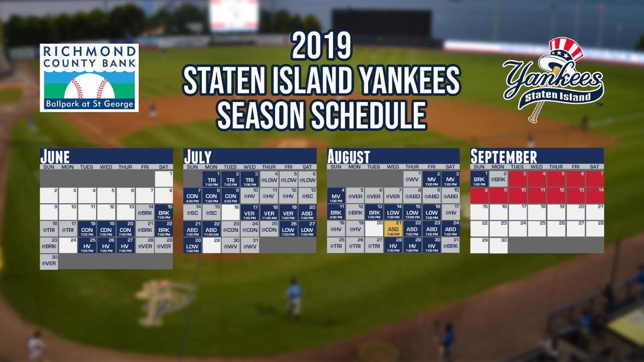 2019 Schedule is Here!