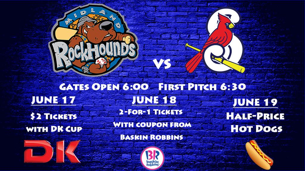 RockHounds Upcoming Home Stand Media Wall