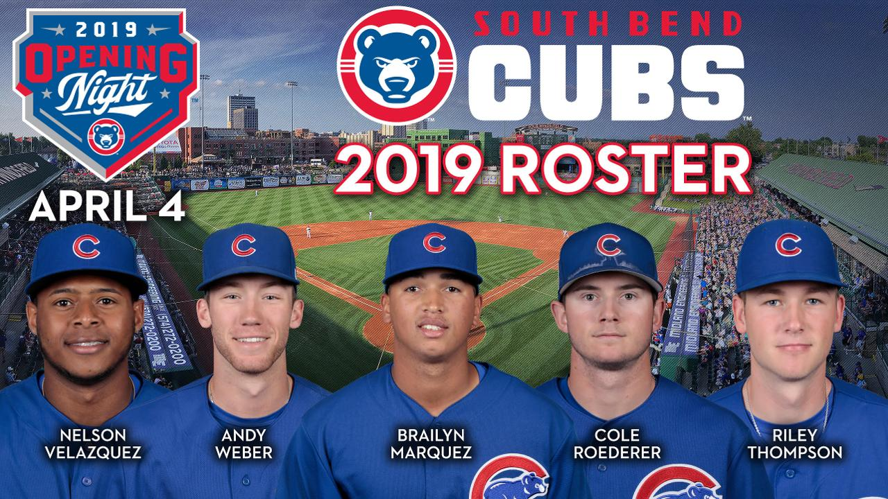 f7539c5e South Bend Cubs Announce 2019 Opening Night Roster | South Bend ...