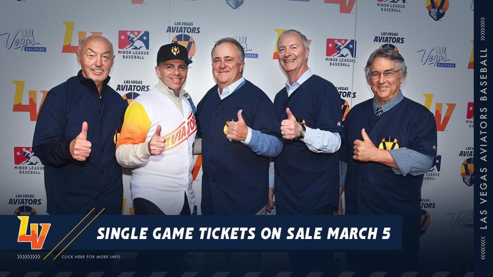 Aviators Individual Game Tickets on Sale Now! | Las Vegas Aviators News