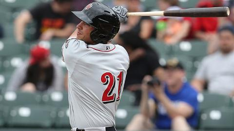 Matt Olson clubbed 23 homers for Triple-A Nashville before blasting 24 in 59 games with Oakland.