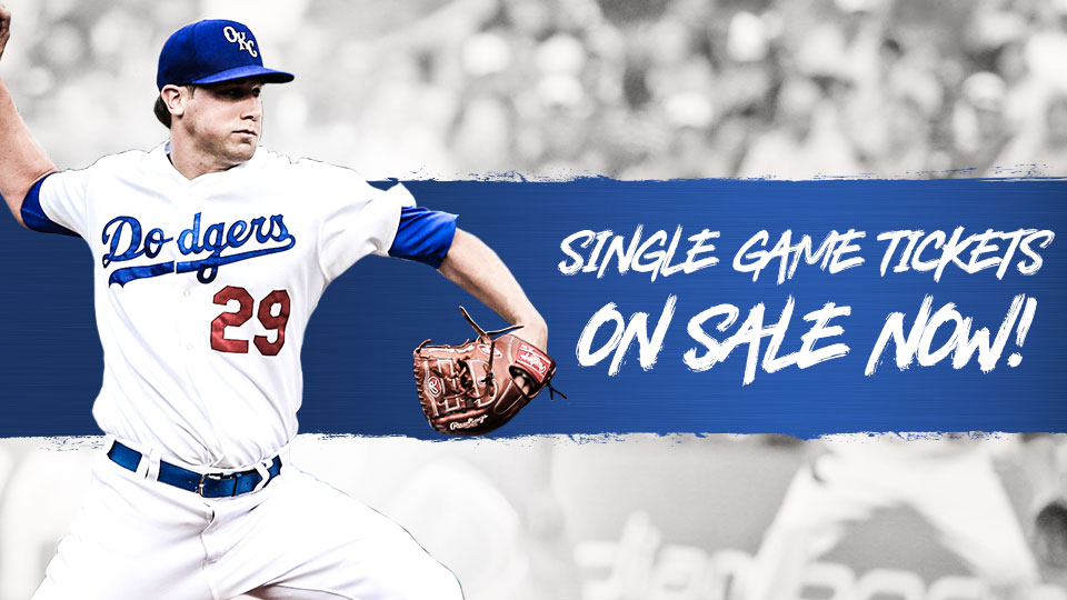OKC Dodgers Single-Game Tickets On Sale Now
