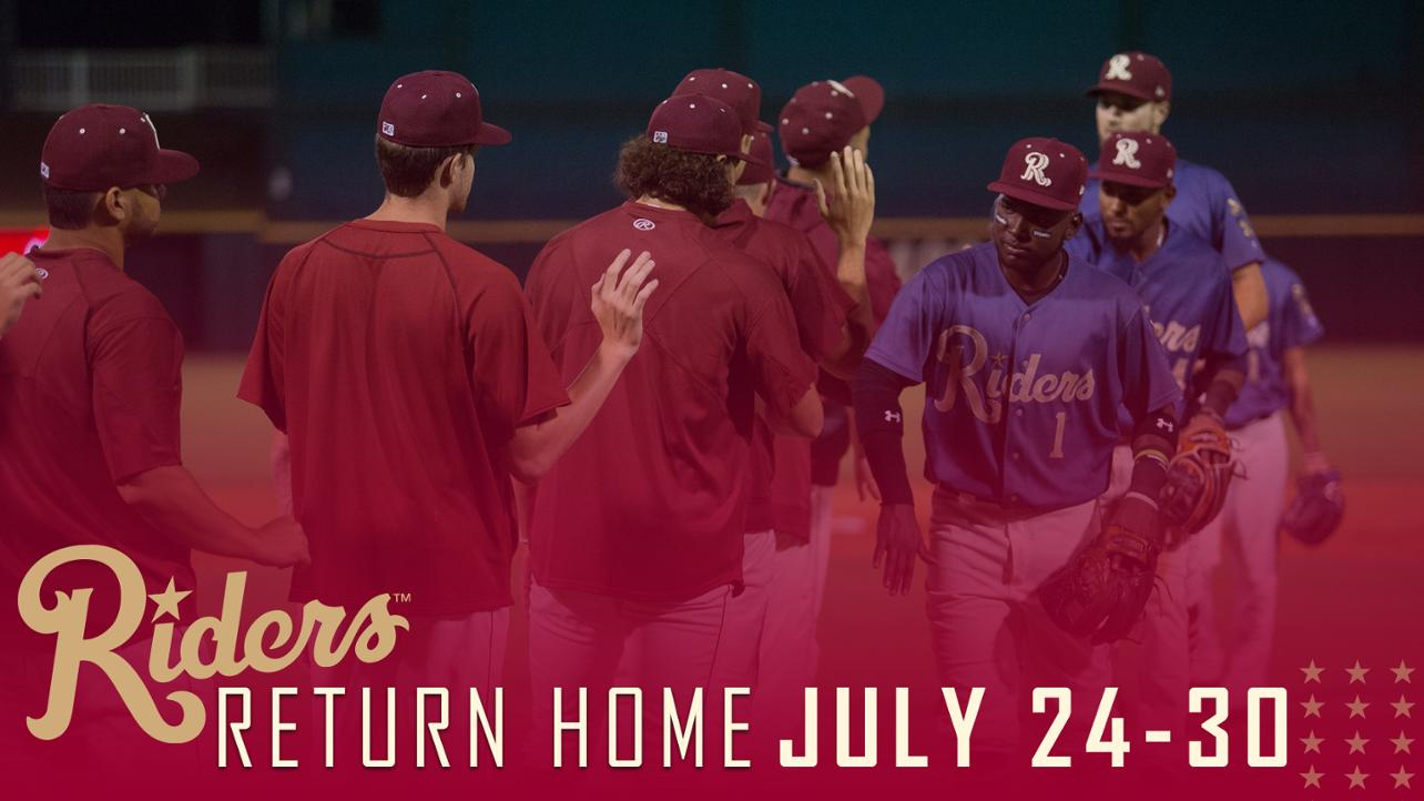 Riders return home next week
