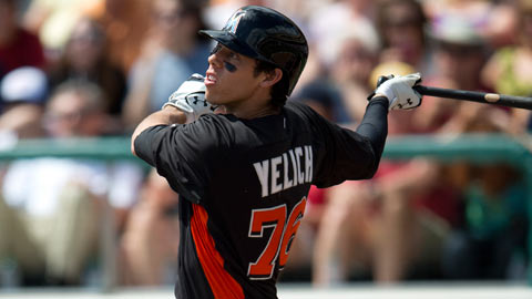Christian Yelich is expected to begin the 2013 season at Double-A Jacksonville.
