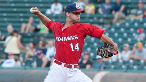 Jarred Cosart is 2-2 with a 2.21 ERA at Triple-A over two seasons.