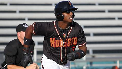 Kyle Lewis has an .808 on-base plus slugging percentage in 79 career games in the Minors.