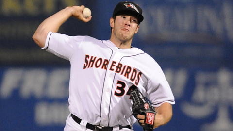 Matt Hobgood is 4-0 with a 1.17 ERA this year for Delmarva.