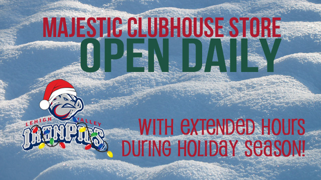 Majestic Clubhouse Store Holiday Hours | Lehigh Valley