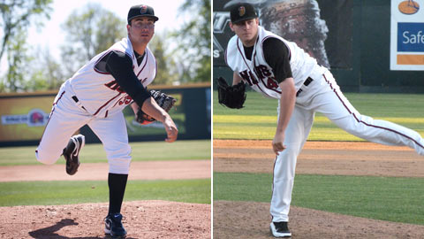 Chad Bettis (left) and Tyler Matzek excelled at Class A Advanced Modesto in past years.