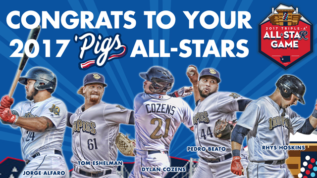 Hoskins, Cozens, Beato, Alfaro And Eshelman Named All-Stars