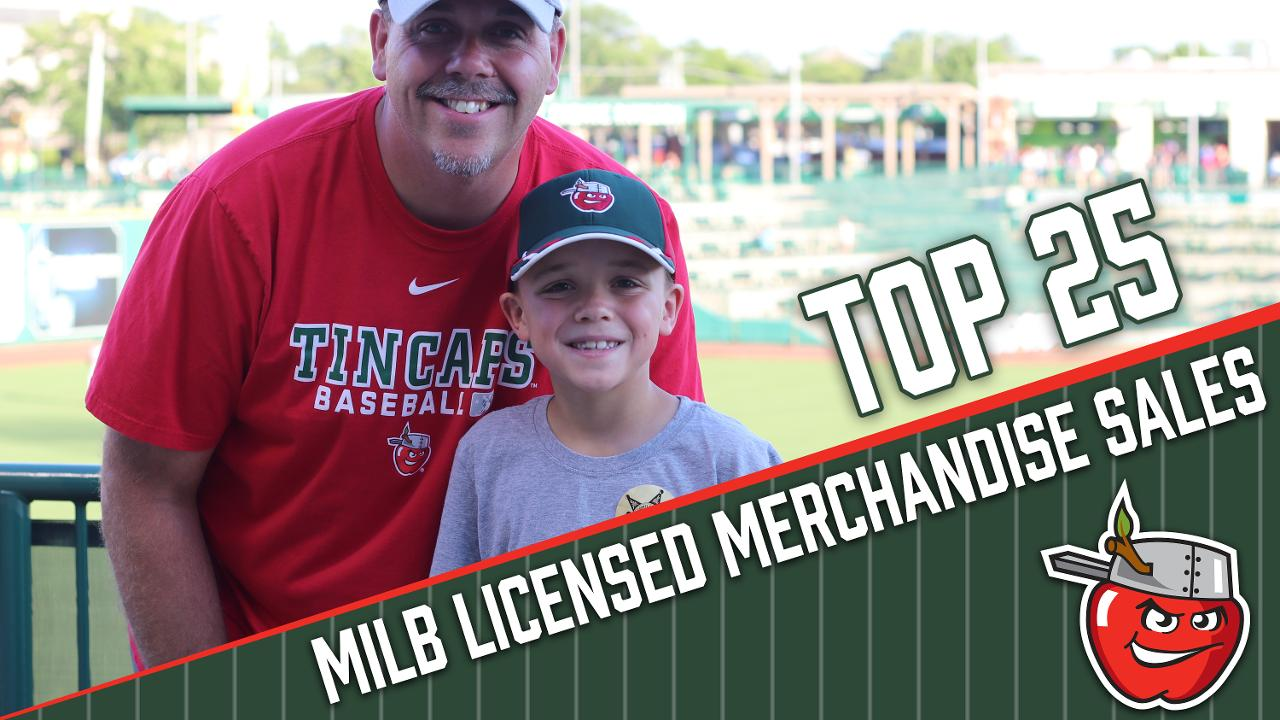 TinCaps Rank Among MiLB's Top 25 for Merchandise Sales | Fort Wayne