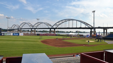 Modern Woodman Park's Mississippi River setting is a Minor League gem.