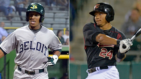 Chris Bostick and Michael Choice were among the A's top 20 prospects.