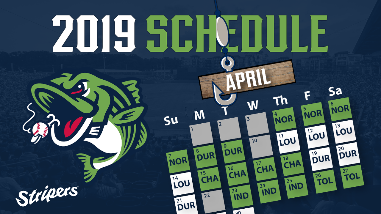 image about Atlanta Braves Tv Schedule Printable referred to as Gwinnett Stripers Announce 2019 Agenda Gwinnett Stripers