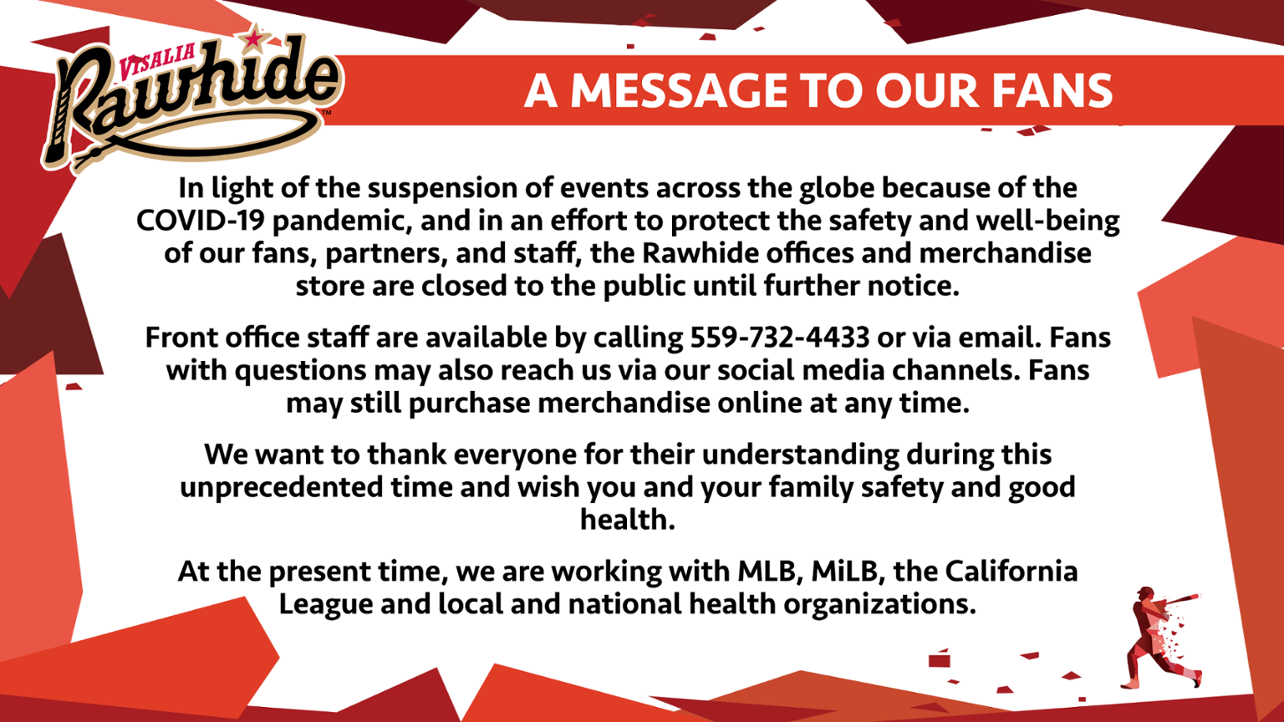 A Message to our Fans