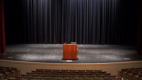 We can be behind that podium for you!