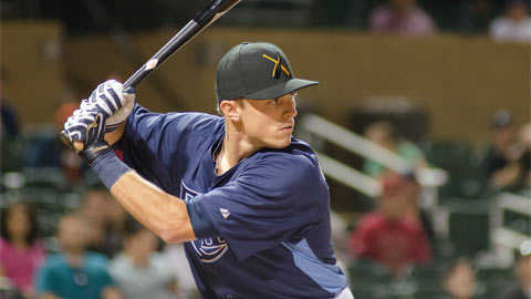 Richie Shaffer has reached base in nine of his past 10 AFL game.
