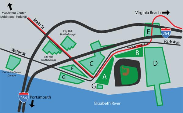 Directions & Parking Info | Norfolk Tides Content