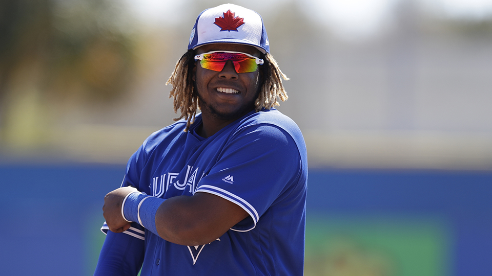 e526a822191 Vladimir Guerrero Jr. is hitting .360 .448 .560 with six RBIs in seven  games across two levels this season. (Chris O Meara AP)
