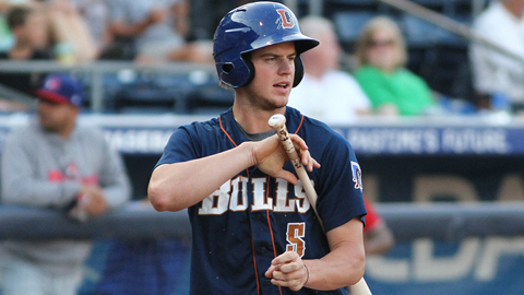 Wil Myers shares the Durham team lead with 22 extra-base hits.