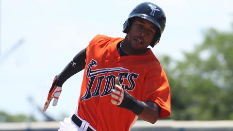 L.J. Hoes hit .304 with a .406 OBP in 99 games at Triple-A Norfolk.