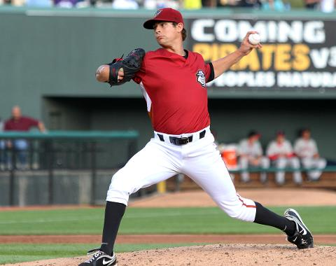 Nate Baker set a new season-high with seven strikeouts in Sunday night's victory over Akron.