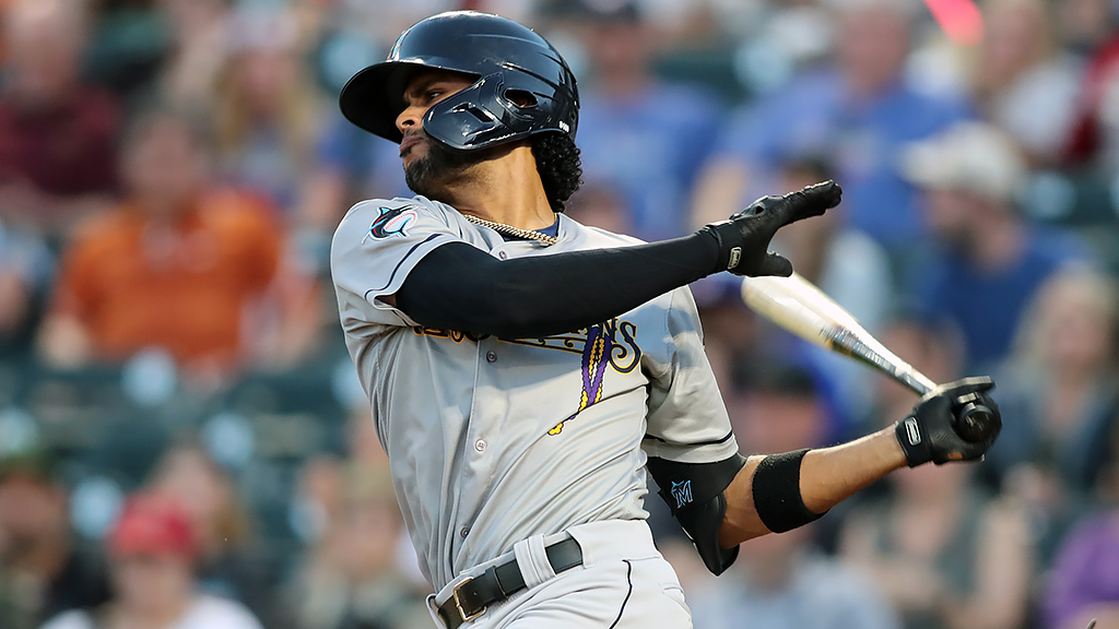 Marlins' Rivera running wild for Baby Cakes in PCL