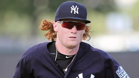 Clint Frazier still sported his trademark long hair during the instructional league last fall.