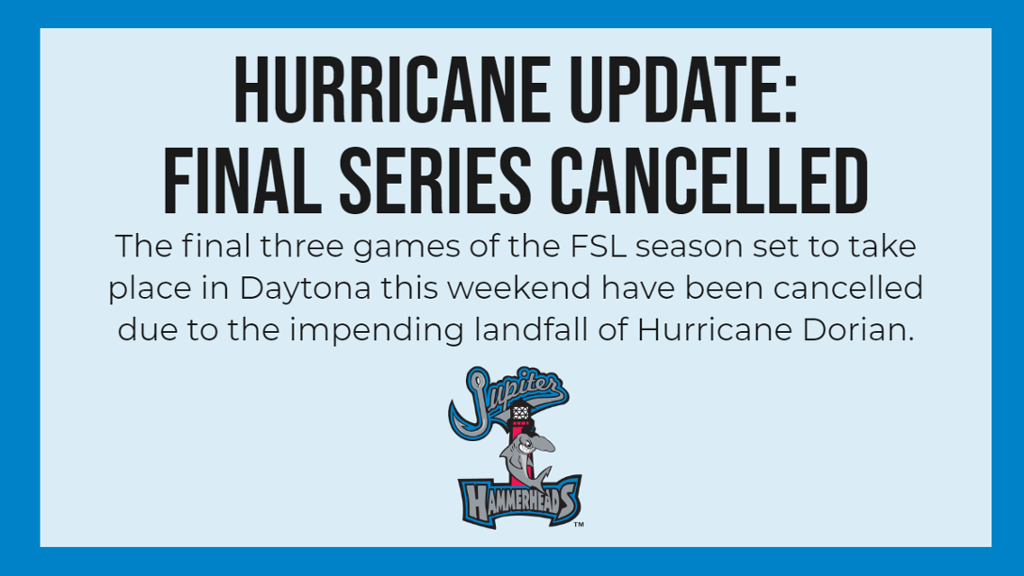 Remainder of Florida State League season cancelled after tonight's game
