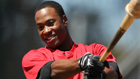 Keon Broxton hit .267 in the California League in 2012.