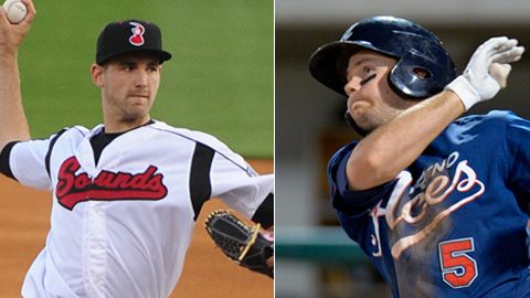 Johnny Hellweg and Chris Owings both rank No. 3 among prospects in their respective farm systems.