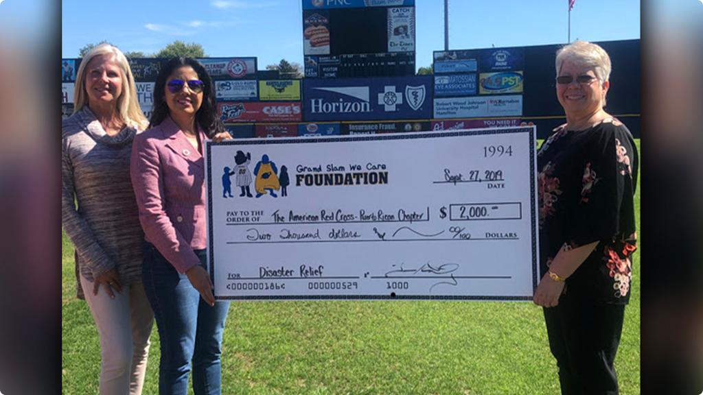 Grand Slam We Care Foundation Makes Donation To Support American Red Cross - Puerto Rico