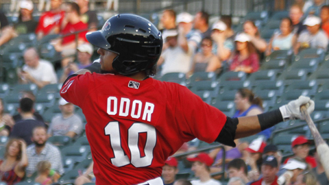Rougned Odor drove in four of the five RoughRiders runs but was picked off in the ninth at second base to end the ballgame.