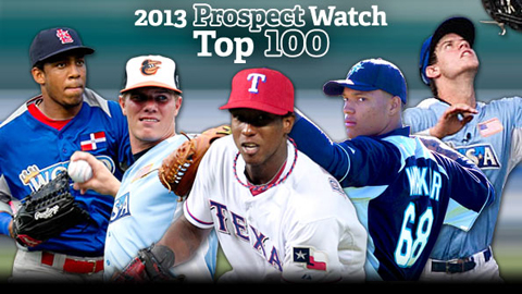 Jurickson Profar, Dylan Bundy, Oscar Taveras, Wil Myers and Taijuan Walker comprise the top five.