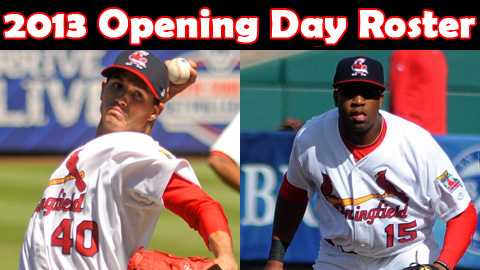 2013 opening day roster springfield cardinals sf giants opening day