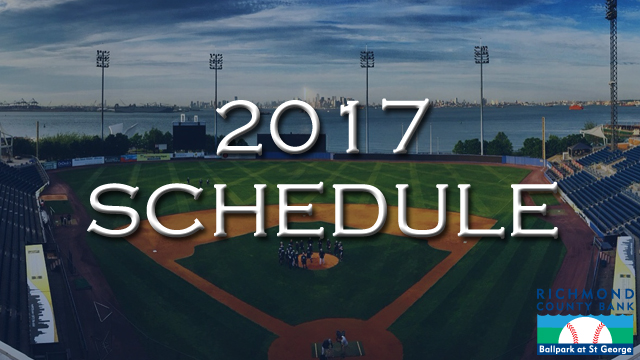 79e2dd4b7f4a8 Staten Island Yankees announce 2017 Schedule. Opening Day set for Monday