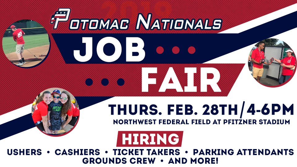 2019 P-Nats Seasonal Job Fair at Northwest Federal Field at Pfitzner